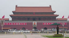 Tiananmen square at daytime HD. Stock Footage
