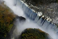 Victorie Falls aerial close up - stock photo