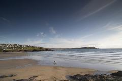 Stock Photo of polzeath beach in cornwall england