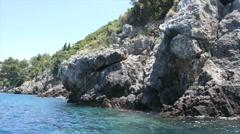 Coastline of greece island kos Stock Footage