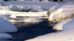 Alaskan stream in the heart of the Alaskan Range during winter Stock Footage
