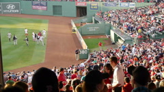 Fenway Park Crowd Stock Footage