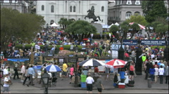 New Orleans Jackson Square time lapse crowds 4k Stock Footage