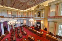 California senate chamber Stock Photos