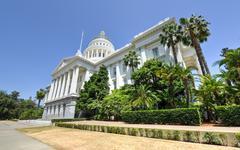 sacramento capitol building, california - stock photo