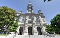 Cathedral of the blessed sacrament, sacramento california Stock Photos