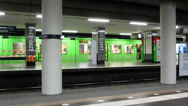 Stock Video Footage of train in subway station, Waterlooplatz Hannover, Germany