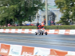 Le Mans prototype team G-Drive Racing in the Rain. G-Drive Show. 640x480 Stock Footage