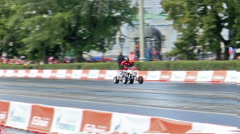 Le Mans prototype team G-Drive Racing in the Rain. G-Drive Show Stock Footage