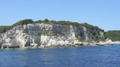 Island kos from the sea Stock Footage