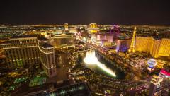 Las Vegas strip night timelapse zoom  constant resolution Stock Footage