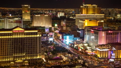 Las Vegas strip night timelapse zoom  constant resolution - stock footage