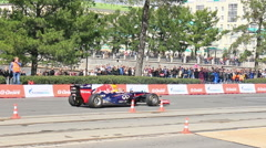 Servismeny approach to Formula 1. G-Drive Show. 1280x720 Stock Footage
