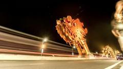 Da Nang Dragon Dragon Bridge - stock footage