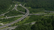 Stock Video Footage of AERIAL: Highway junction