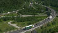 Stock Video Footage of AERIAL: Highway traffic