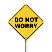 3d yellow roadsign of do not worry Stock Illustration