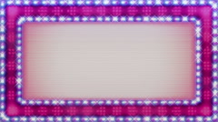Casino billboard lights title plate loop Pinkish - 1080p - stock footage