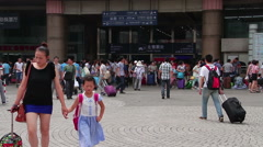 Beijing west railway station at daytime. HD. Stock Footage