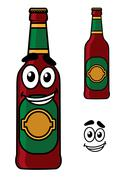Happy beer pint cartoon Stock Illustration