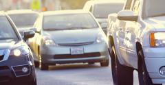 4K Cars traffic on Melrose Avenue in Los Angeles, California Stock Footage