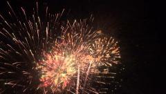 Patriotic fireworks 4th july beautiful 4K 092 - stock footage