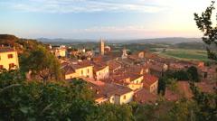 Italian countryside Massa Marittima town Tuscany Italy Europe Stock Footage