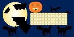 Halloween school timetable - stock illustration