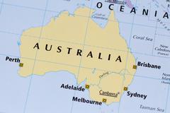 Map of australia Stock Photos
