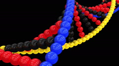 Animation of the DNA molecule with alpha channel - stock footage