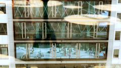 Lifestyle background. modern glass building architecture Stock Footage