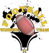 american football graphic - stock illustration
