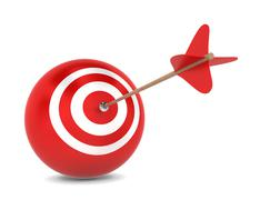 Stock Illustration of arrow hits spherical aim