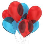 bunch of balloons - stock illustration