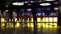People buying film ticket in a cinema Stock Footage