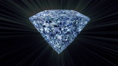 3D Blue Diamond Stock Footage