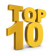 top ten - stock illustration