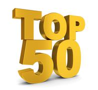 top fifty - stock illustration