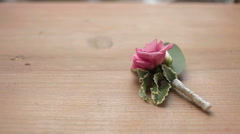 Wedding boutonnieres Stock Footage