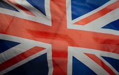 Retro vintage british flag Stock Photos