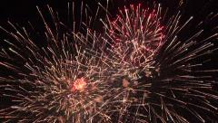Beautiful fireworks 4th July 4K Stock Footage