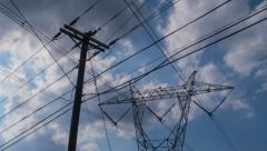 4K Electric Power Lines Stock Footage