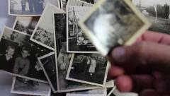 Historical photos Stock Footage