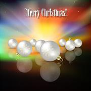 Abstract celebration background with christmas decorations Stock Illustration