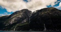 Epic 4k timelapse, landscape, clouds, mountains, fjords in norway Stock Footage