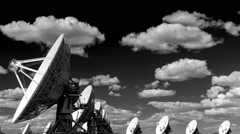 Timelapse Very Large Array Black White - stock footage