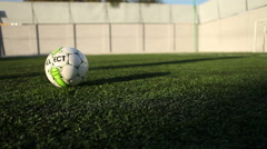 Sport soccer ball kick Stock Footage