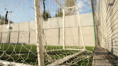 Sport ball football goal netting Stock Footage
