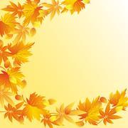 Nature syksy tausta lehtiä syksyllä Piirros