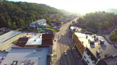 Aerial Gatlinburg Tennessee shot with a quadcopter and gopro Stock Footage